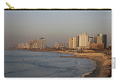 Tel Aviv Coast. Carry-all Pouch by Shlomo Zangilevitch