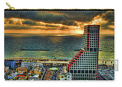 Carry-all Pouch featuring the photograph Tel Aviv Lego by Ron Shoshani