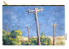 Telephone Poles Before The Rain Carry-all Pouch
