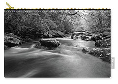 Tellico Waters In Black And White Carry-all Pouch
