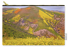 Carry-all Pouch featuring the photograph Temblor Range Color by Marc Crumpler