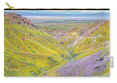 Carry-all Pouch featuring the photograph Temblor Range View To Caliente Range by Marc Crumpler