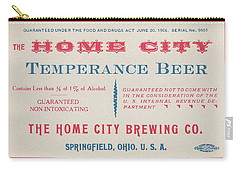 Carry-all Pouch featuring the photograph Temperance Beer Label by Tom Mc Nemar