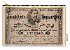 Temperance Pledge Card Carry-all Pouch