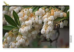 Carry-all Pouch featuring the photograph Temple Bells Andromedia by Chris Flees