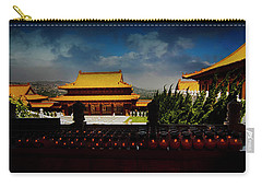 Carry-all Pouch featuring the photograph Temple Candles by Joseph Hollingsworth
