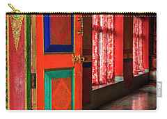 Carry-all Pouch featuring the photograph Temple Door by Alexey Stiop
