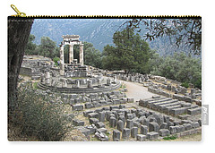 Temple Of Athena At Delphi Carry-all Pouch