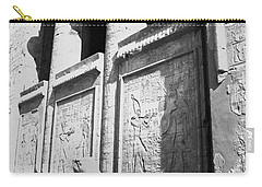 Carry-all Pouch featuring the photograph Temple Of Horus by Silvia Bruno