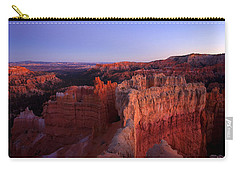 Temple Of The Setting Sun Carry-all Pouch by Mike  Dawson