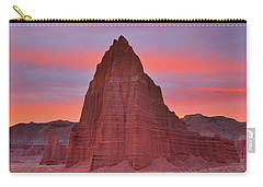 Temple Of The Sun And Moon At Sunrise At Capitol Reef National Park Carry-all Pouch