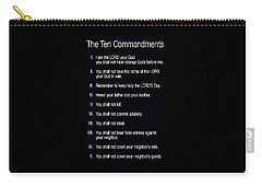 Ten Commandments Carry-all Pouch