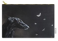 Carry-all Pouch featuring the drawing Tender Is The Night by Elena Kolotusha