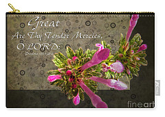 Tender Mercies Carry-all Pouch by Debbie Portwood