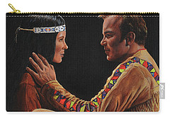 Carry-all Pouch featuring the painting Tenderness In His Touch by Kim Lockman