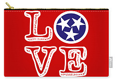 Carry-all Pouch featuring the digital art Tennessee Flag Love by Heather Applegate