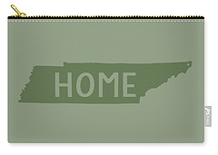 Carry-all Pouch featuring the digital art Tennessee Home Green by Heather Applegate