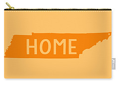 Carry-all Pouch featuring the digital art Tennessee Home Orange by Heather Applegate