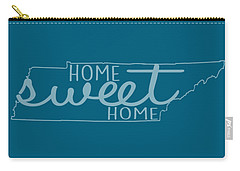 Carry-all Pouch featuring the digital art Tennessee Home Sweet Home by Heather Applegate