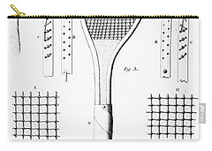 Tennis Racket And Balls Carry-all Pouch by French School