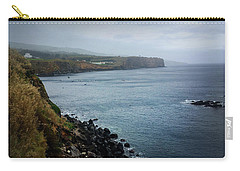 Carry-all Pouch featuring the photograph Terceira Coastline by Kelly Hazel