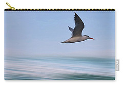 Carry-all Pouch featuring the photograph Tern Flight Vert by Laura Fasulo