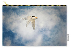 Tern In Flight With Fish Carry-all Pouch
