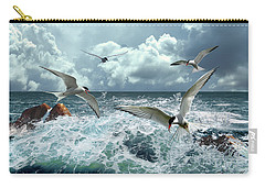 Terns In The Surf Carry-all Pouch