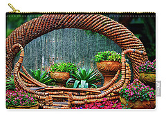 Carry-all Pouch featuring the photograph Terra Cotta Pot Gondola Art by Joseph Hollingsworth