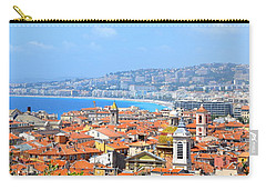 Carry-all Pouch featuring the photograph Terra Cotta Roofs by Corinne Rhode