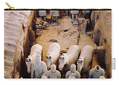 Carry-all Pouch featuring the photograph Terracotta Army by Heiko Koehrer-Wagner