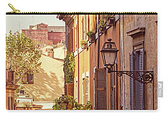 Terracotta - Rome Italy Travel Photography Carry-all Pouch by Melanie Alexandra Price
