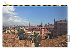 Carry-all Pouch featuring the photograph Terracotta Rooftops by Anne Kotan