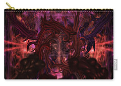 Carry-all Pouch featuring the digital art Terrible Certainty by Reed Novotny
