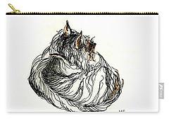 Terrier Sleeping - 1 Carry-all Pouch by Shirley Heyn