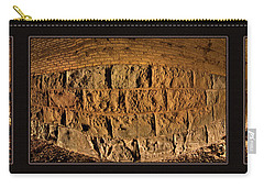 Carry-all Pouch featuring the photograph Terry Tunnel Triptych by Leland D Howard