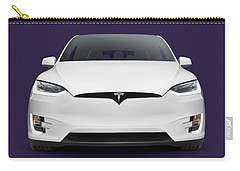 Tesla Model X Luxury Suv Electric Car Front Art Photo Print Carry-all Pouch