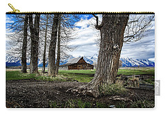 Carry-all Pouch featuring the photograph View From Mormon Row by Scott Read