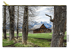 Carry-all Pouch featuring the photograph Moulton Barn On Mormon Row by Scott Read