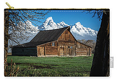 Carry-all Pouch featuring the photograph Moulton Barn And Tetons by Scott Read