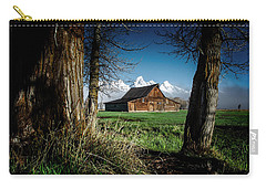 Carry-all Pouch featuring the photograph Tetons And Moulton Barn by Scott Read