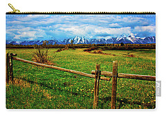 Carry-all Pouch featuring the photograph Teton Park Spring by Norman Hall