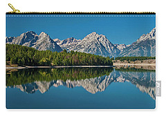 Carry-all Pouch featuring the photograph Teton Reflections by Gary Lengyel