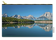 Carry-all Pouch featuring the photograph Teton Reflections II by Gary Lengyel