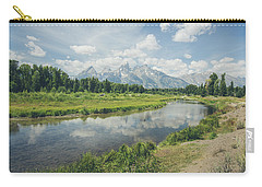 Carry-all Pouch featuring the photograph Teton Reflections by Margaret Pitcher