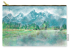 Teton Snow Reflections Carry-all Pouch