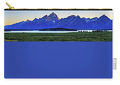 Carry-all Pouch featuring the photograph Teton Sunset by David Chandler