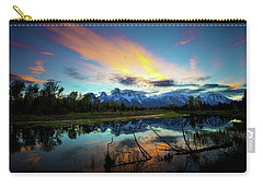 Carry-all Pouch featuring the photograph Teton Sunset by Norman Hall