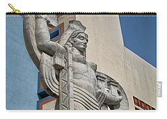 Carry-all Pouch featuring the photograph Texas Art Deco Sculpture by David and Carol Kelly