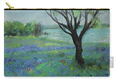 Carry-all Pouch featuring the painting Texas Bluebonnet Trail by Robin Maria Pedrero